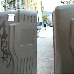 DECAP'EXPRESS - Nice- Enlèvement de graffitis (recouvrement)