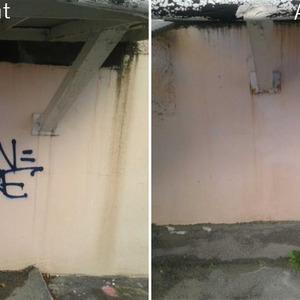 DECAP'EXPRESS - Cannes - Enlèvement de graffitis (hydrogommage)